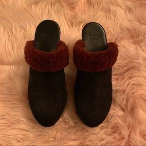 UGG Shoes - Ugg Australia Black suede mules/clogs size 7